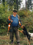 Tracker with his dog, 2005